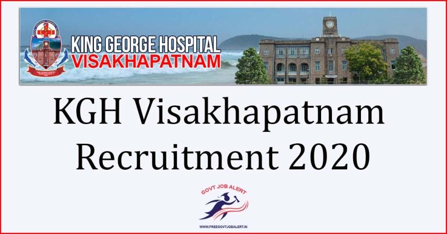 KGH Visakhapatnam Recruitment 2020