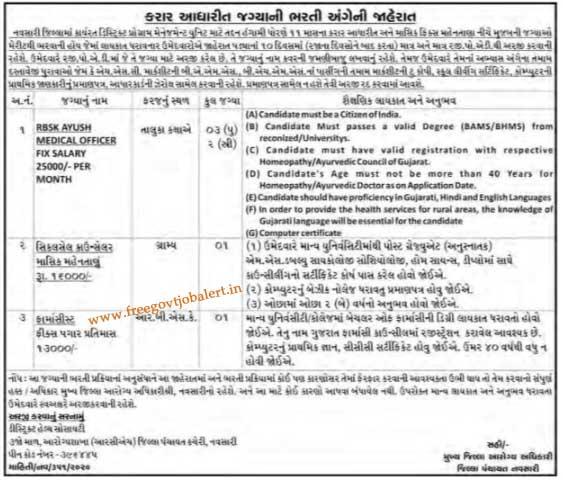 District Programme Management Unit Navsari Jobs 2020 Medical Officer & Other Post