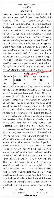 Halvad Nagarpalika Recruitment 2021 - 13 Safai Kamdar Bharti