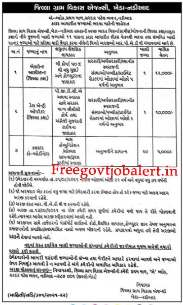 DRDA Kheda-Nadiad Recruitment 2021 - 22 Data Entry Operator & Other Posts 2021