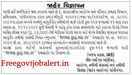 117 - HFWD Gandhinagar Recruitment 2021