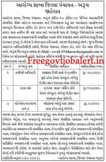 Health Department Bharuch Recruitment 2021 - Pattawala - Wordboy & Other Posts