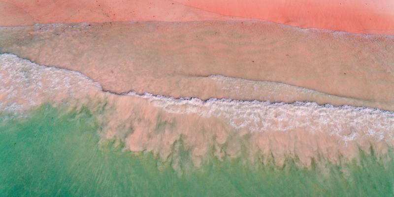 aerial view of the ocean waves, Zanzibar