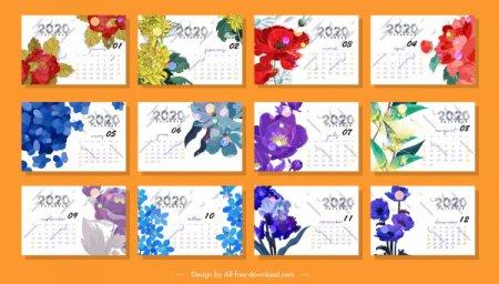 Красивый цветочный календарь на 2020 год » Бесплатный ...
