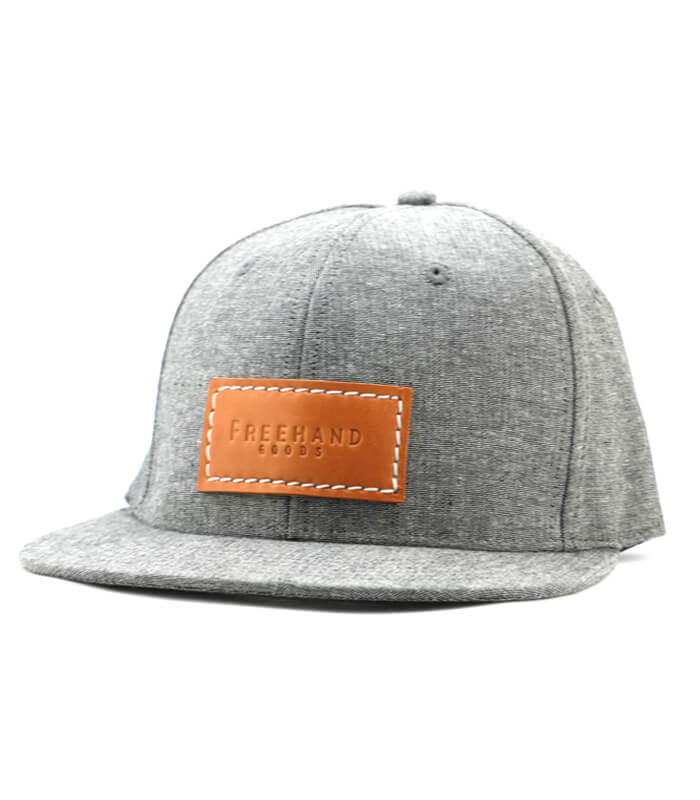 Grey Chambray 6 Panel Hat