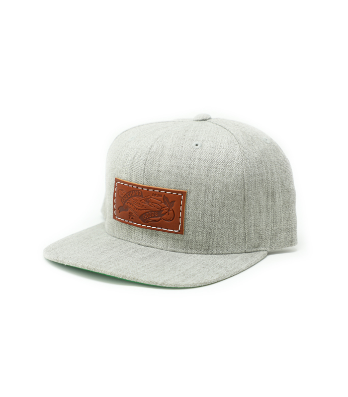 Heather Grey 6 Panel Snapback