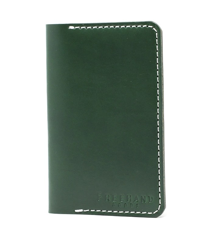 Emerald Fairbanks Leather Passport Wallet