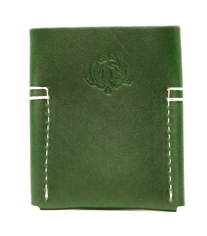 Emerald Semoran Leather Cardholder
