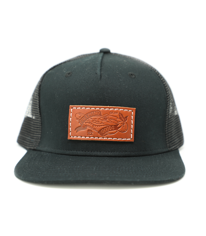 Trucker 5 Panel Hat Black
