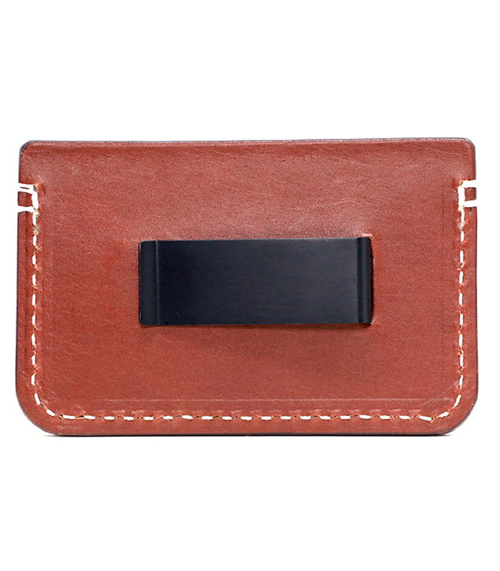 Chestnut Colonial Leather Money Clip