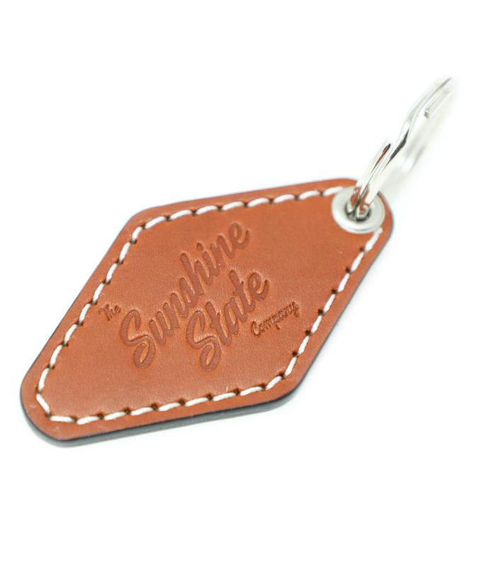 Leather Motel Key Fob Chestnut