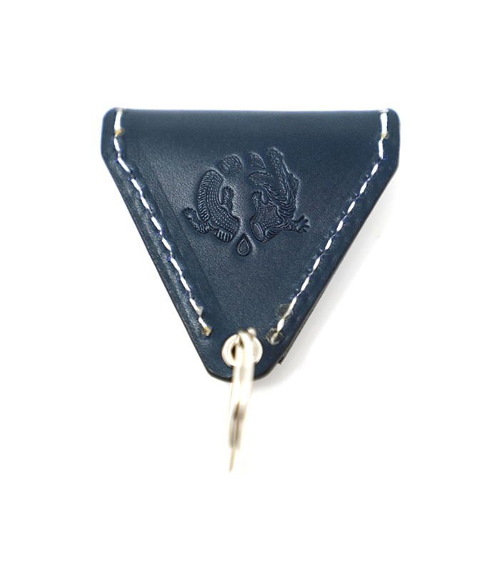 Navy 408 Leather Coin Case