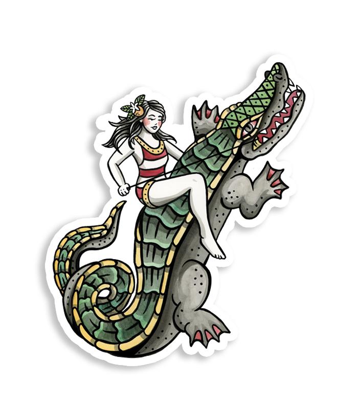Gator Rider Sticker