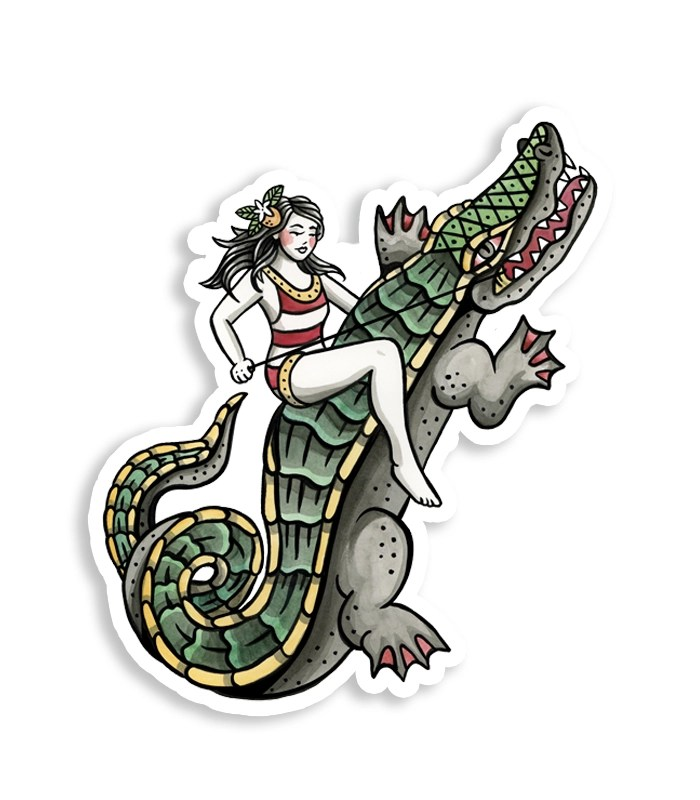 Gator Rider Sticker