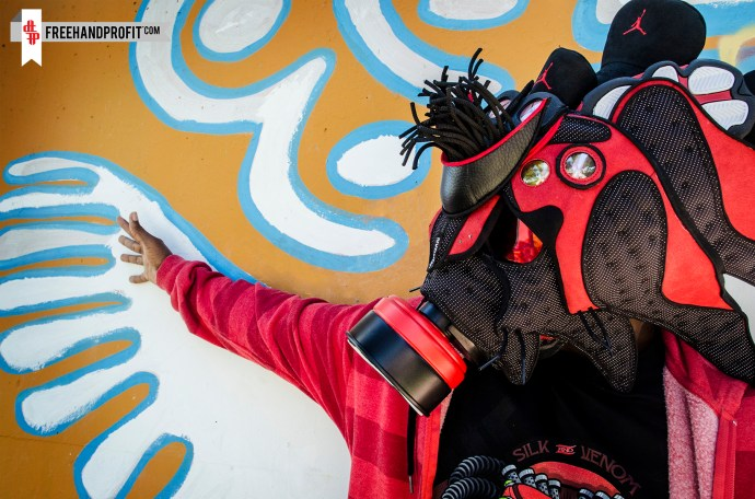 """Air Jordan XIII """"Bred"""" Gas Mask by Freehand Profit"""