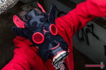 "Air Jordan VI (6) ""Black Infrared"" Gas Mask by Freehand Profit"