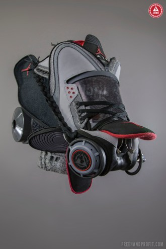 """Air Jordan III (3) """"Stealth"""" Gas Mask by Freehand Profit"""