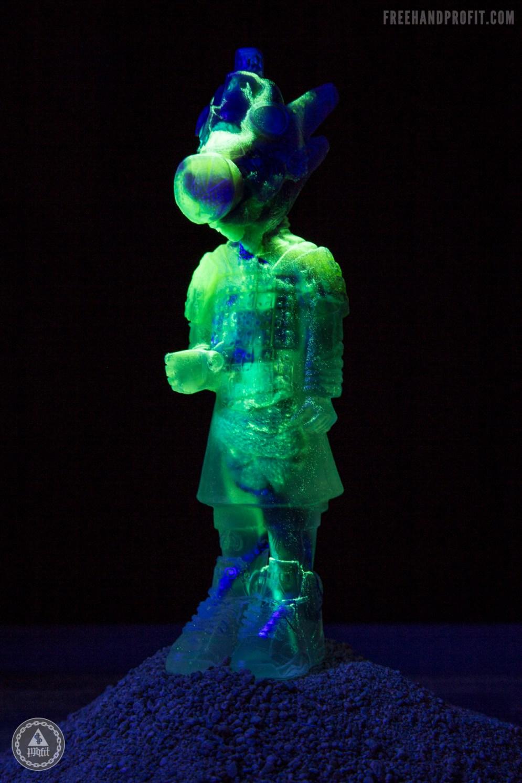 Mystery II glowing in the dark.