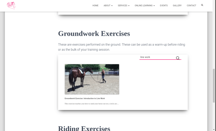 Exercises Page -  Search Groundwork Exercises