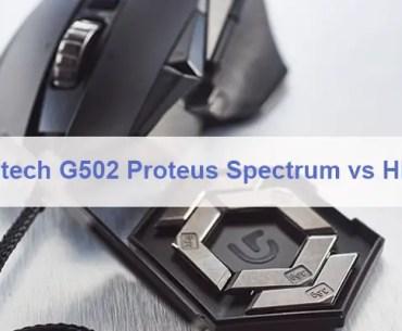 Logitech G502 Proteus Spectrum vs HERO