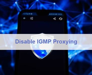 Disable IGMP Proxying