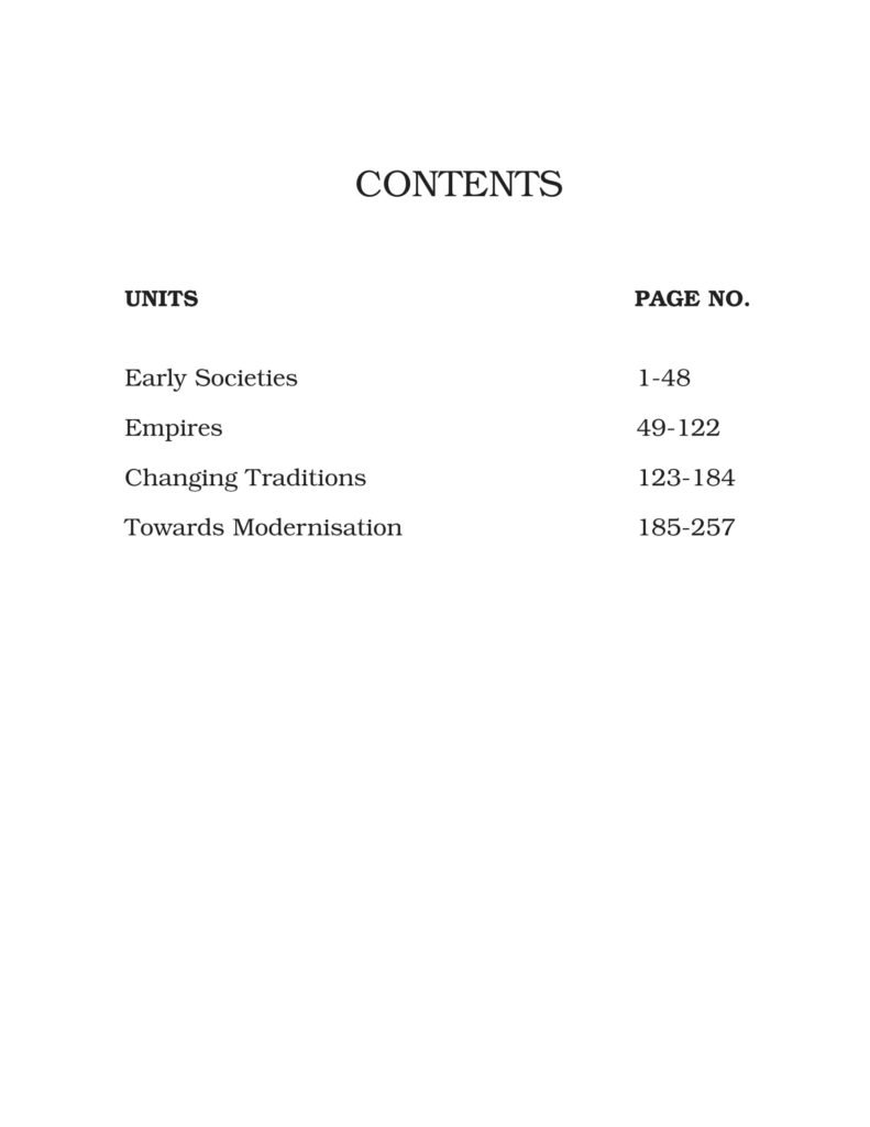 Class 11th History NCERT BOOK Themes In World History Contents
