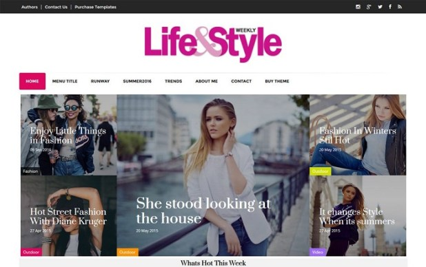 Best Free Html Website Templates - Fashion website templates