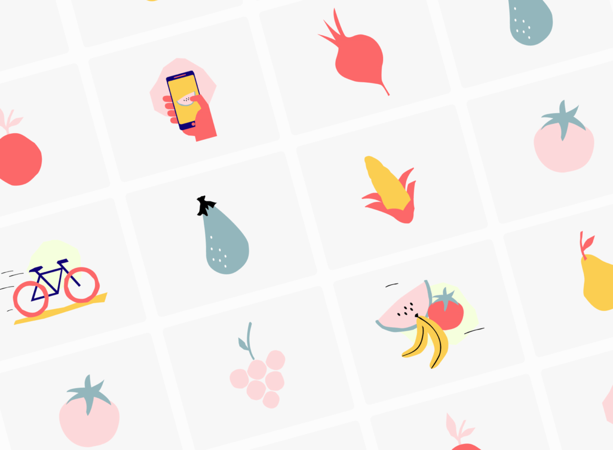 Fruit and vegetable Illustrations