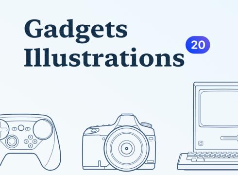 Gadgets Outline Illustrations