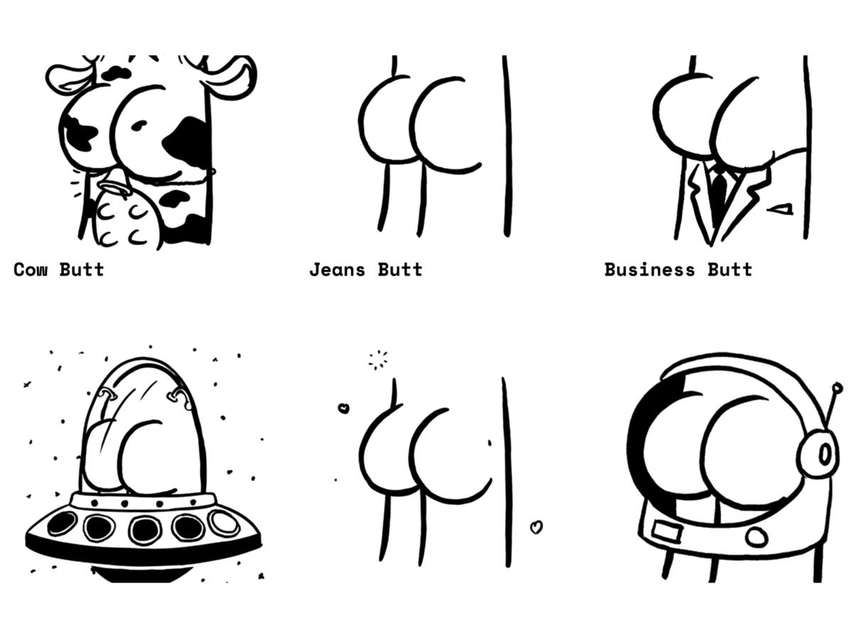 buttsss illustrations