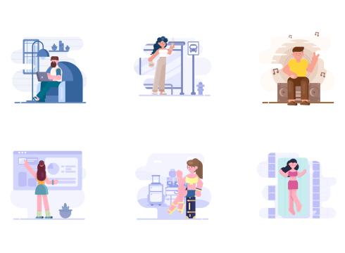 Loomies illustrations