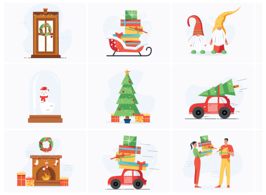 Christmas Illustration Pack
