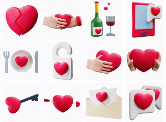 Valentine 3D Pack