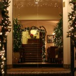 Beautiful Christmas Decorated Lobby Entrance Free Stock