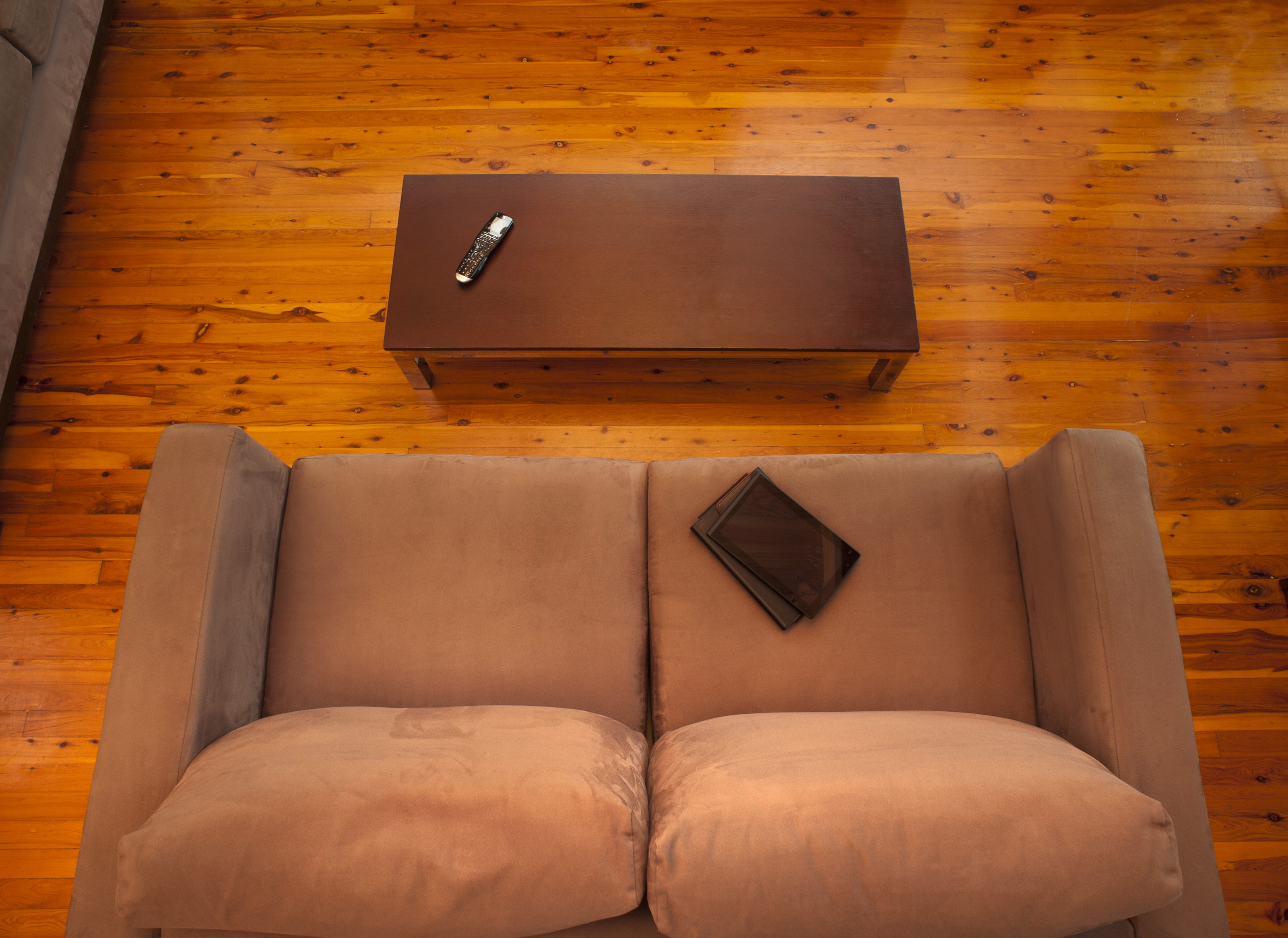 Free Stock Photo 8838 View From Above Of An Empty Lounge Sofa Freeimageslive