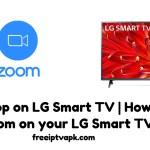Zoom on LG Smart TV