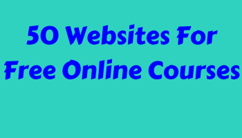 50 Websites For Free Online Courses