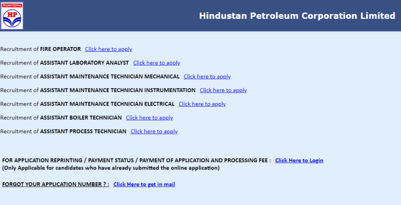 HPCL Recruitment 2018 freejobpoint.com