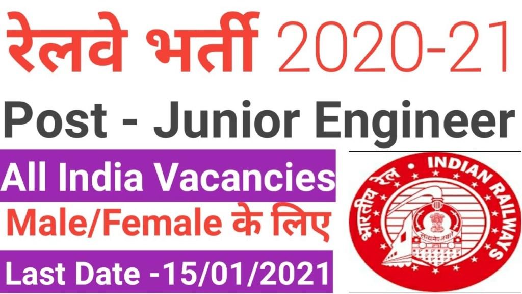 Konkan Railway JE Recruitment 2021