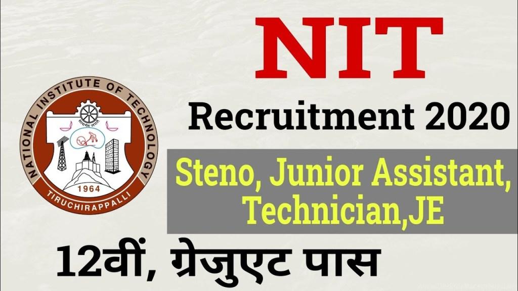 NIT Trichy Recruitment 2021