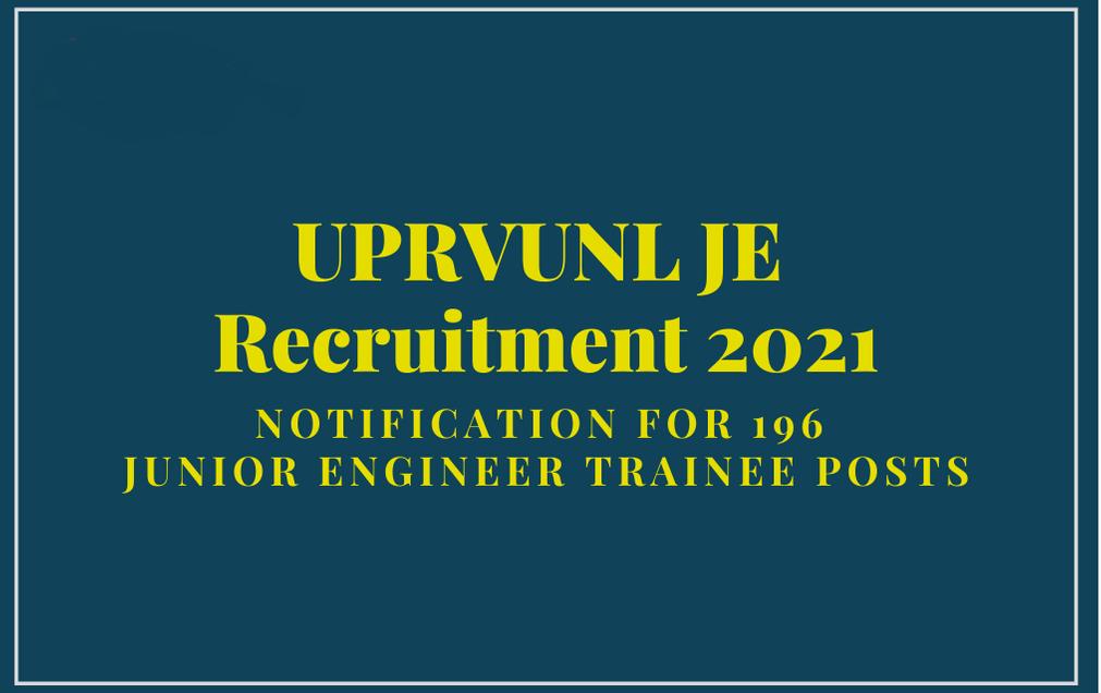 UP JE 2021 Free job Search