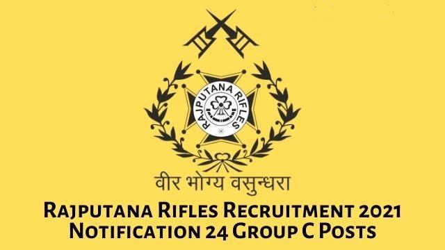 Rajputana Rifles Regimental Vacancy Free Job search