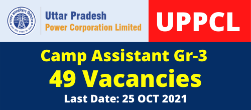 UPPCL Camp Assistant Vacancy Free job Search