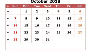 July Calendar 2018 Printable Editable A4 Landscape Portrait