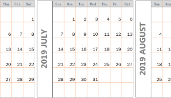 Decorative June 2019 Calendar PDF Page Excel Word Floral Wallpaper