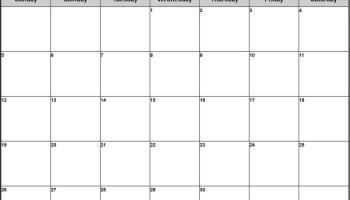 February 2020 Calendar Printable Template in pdf, word, excel