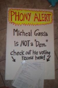 Garcia Phony Sign