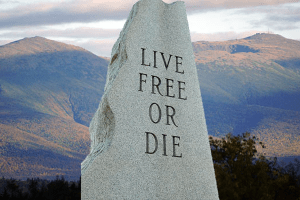 Did New Hampshire people choose death over freedom?