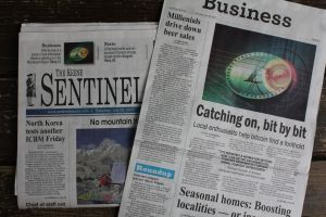 Bitcoin Hits Front Page, Above-the-Fold, Twice!
