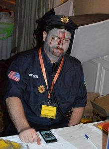 Chris Cantwell Dead Cop Costume